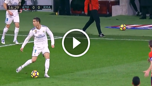 No look pass Ronaldo w meczu z Atletico [VIDEO]